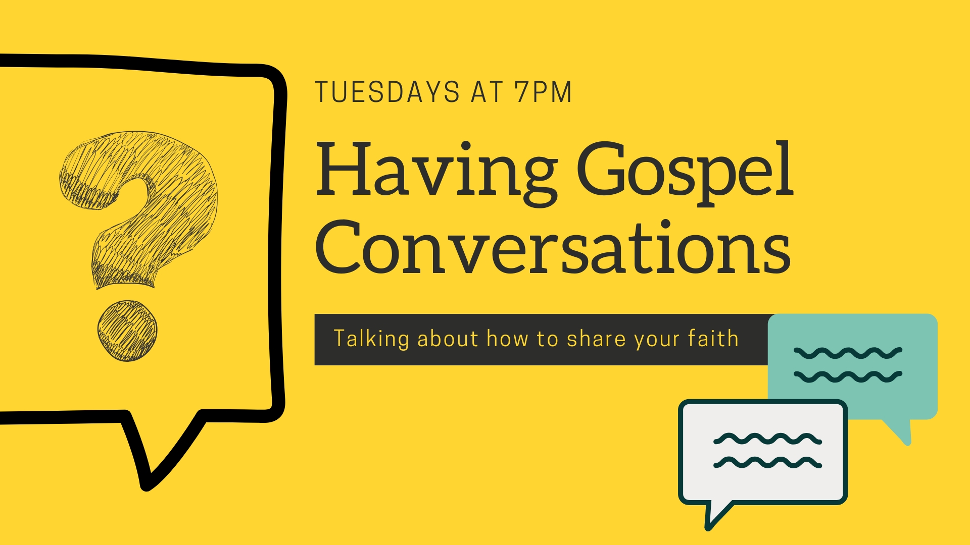 Having Gospel Conversations - Week 8 Image